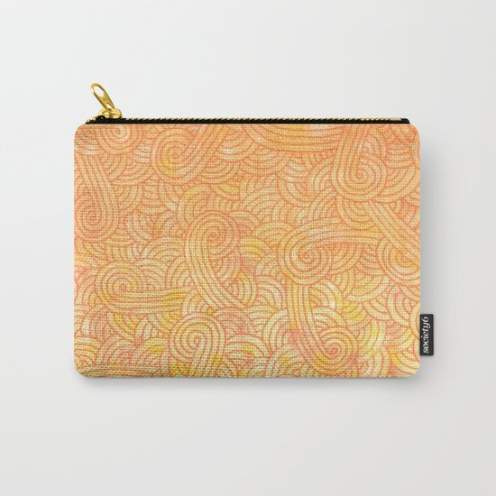 Ombre yellow and orange swirls doodles Carry-All Pouch