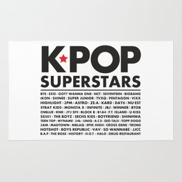 KPOP Superstars Original Boy Groups Merchandse Rug