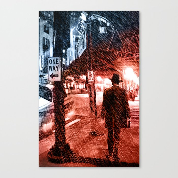 Walking Shadow Canvas Print