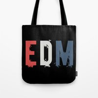 edm Tote Bags featuring EDM by DropBass
