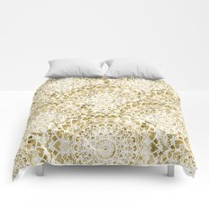 GOLDEN FESTIVAL MANDALAS Comforters