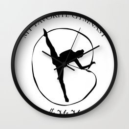 My Favorite Gymnast Calls Me Mom Funny Gifts Wall Clock