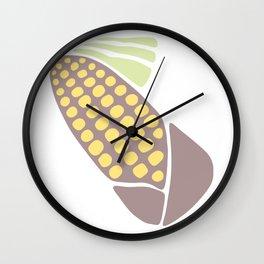 Elotl : Mexican Elote in pastel Wall Clock