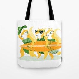 Surfin' Squirrel Babes Tote Bag