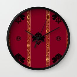 Chic Classique Art Deco Burgundy Red Wall Clock