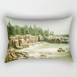 Acadia National Park Maine Rocky Beach Rectangular Pillow