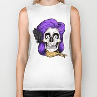 rockabilly Biker Tanks featuring Rockabilly Skull by Mark Matlock