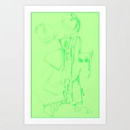 Titled Art Print