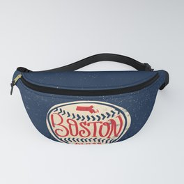 Hand Drawn Baseball for Boston with custom Lettering Fanny Pack