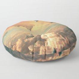 Worlds Collide - Glitch Series Floor Pillow