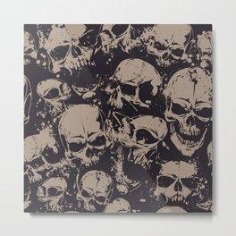 Skulls Seamless Metal Print