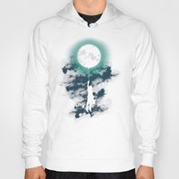 moon Hoodies featuring Burn the midnight oil  by Picomodi