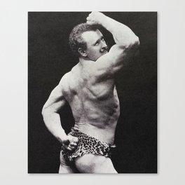 Vintage Bodybuilding Sandow Pose Canvas Print