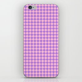 Cotton Candy Pink and Lavender Violet Diamonds iPhone Skin
