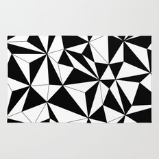 Geo - black and white Rug
