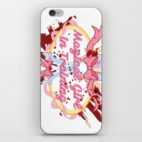 magical girl iPhone & iPod Skins featuring Magical Girl In Training by CassidyStone