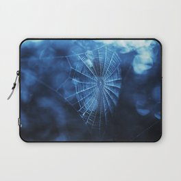 Spider Web in Blue Laptop Sleeve