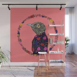 Floral Bird Wall Mural