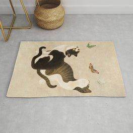 Minhwa: cats & butterflies (Korean traditional/folk art)  Rug