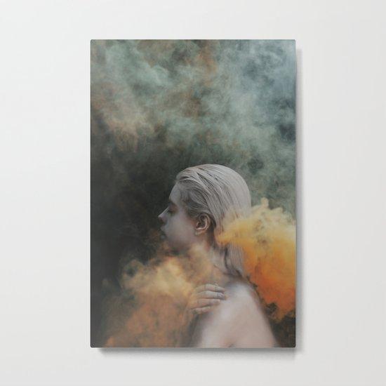 Yellow smoke Metal Print
