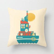 Owl Aboard Throw Pillow
