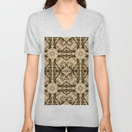 A Modern Vintage Dream (umber background) Unisex V-Neck