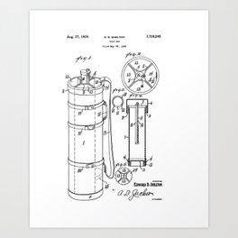 Golf Bag patent 1929 Art Print