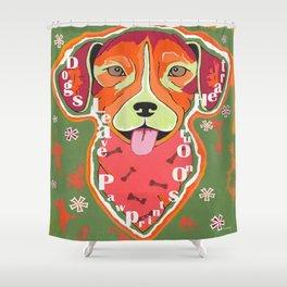 Heartstrings Pit Bull Shower Curtain