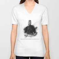 vikings V-neck T-shirts featuring Ragnar Lothbrok from Vikings by Sjors van den Hout