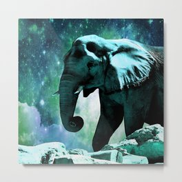 Galaxy Elephant of the Planet Pachyderm Metal Print