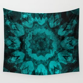 Twilight's Teal Tulip Wall Tapestry