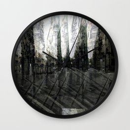 Talk place lease with pour sink sank sunk. Wall Clock