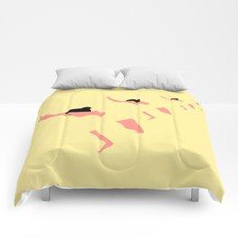 YOGA GIRL #3 Comforters