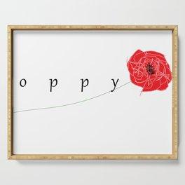 Poppy Serving Tray
