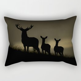Red Deer at dawn Rectangular Pillow