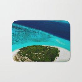 Deserted Coral Island. Maldives Bath Mat