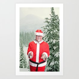 Merry Christmas, Colonel Sanders Art Print