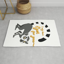 Unique & Funny Ringtail Cat Tshirt Design Eyes On You Rug