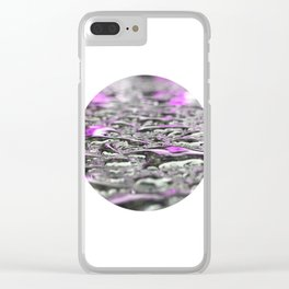 Droplets in Times Square No.3 Clear iPhone Case