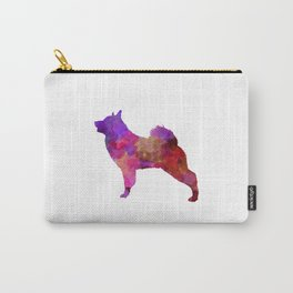 Norwegian Elkhound in watercolor Carry-All Pouch