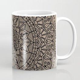 Circle of Life Mandala Brown Coffee Mug