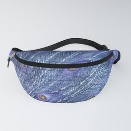 Purple Peacock Feathers Fanny Pack