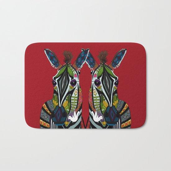 zebra love red Bath Mat