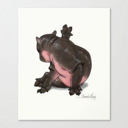 HippoCat Canvas Print