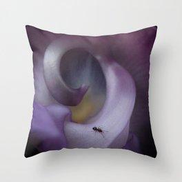 Purple Snail Flower Throw Pillow