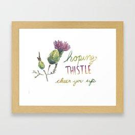 thistle be good Framed Art Print