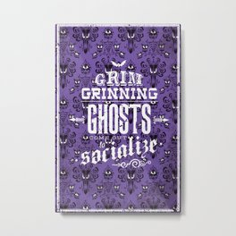 Haunted Mansion - Grim Grinning Ghosts Metal Print
