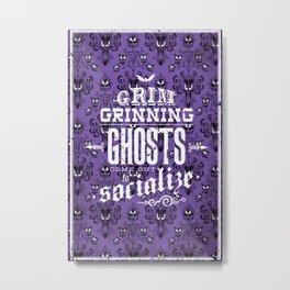 Haunted Mansion - Grim Grinning Ghosts Metal Print