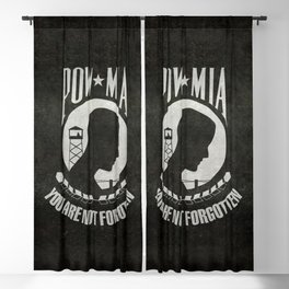 POW MIA Flag - Prisoner of War - Missing in Action Blackout Curtain