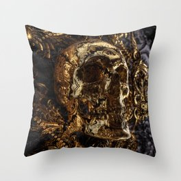 Go back to skull Throw Pillow